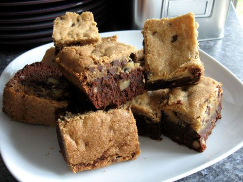 Chocolate Chip Cookie Topped Brownies | Desserts! | Pinterest