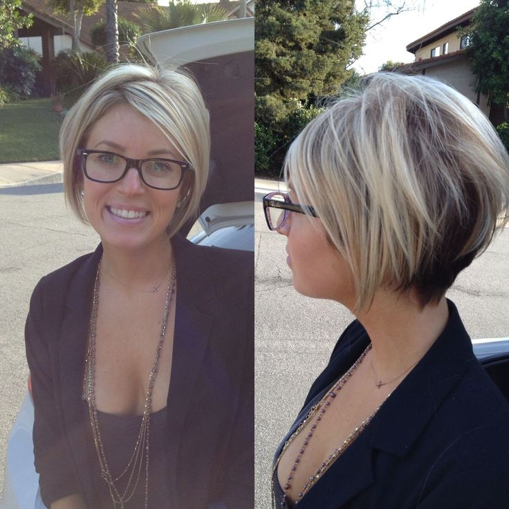 Short a Line Bob with Highlights