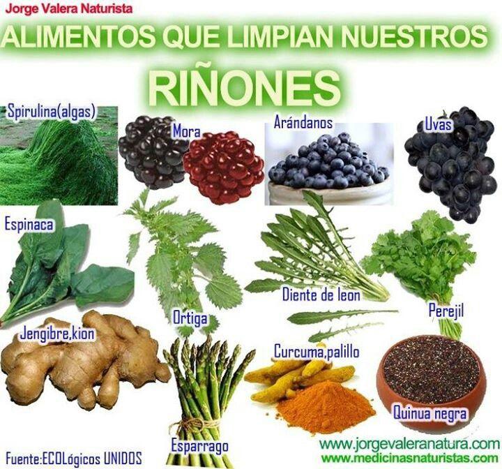 Alimentos que limpian los riñones.