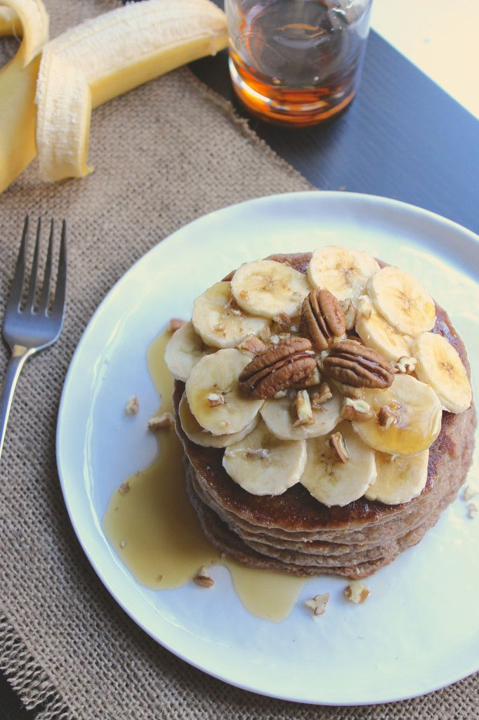 Banana Pecan Pancakes | G-Free | Pinterest