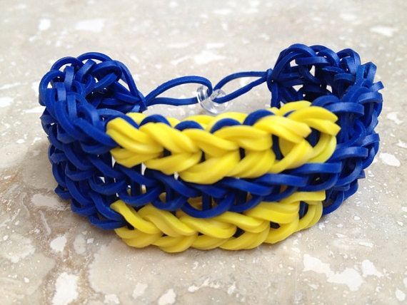 Equality Rubber Band Bracelet (Blue & Yellow)