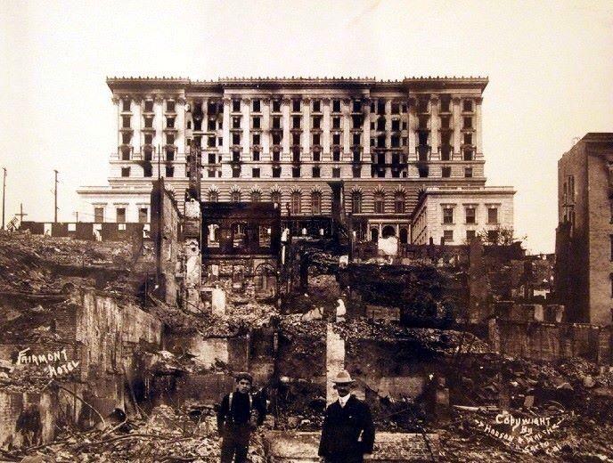 san francisco fairmont hotel post 1906 earthquake and fire. Black Bedroom Furniture Sets. Home Design Ideas
