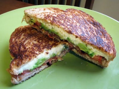 Avocado, Tomato and Bacon Grilled Cheese