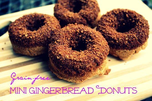 Coconut flour mini gingerbread donuts | Paleo Doughnuts | Pinterest