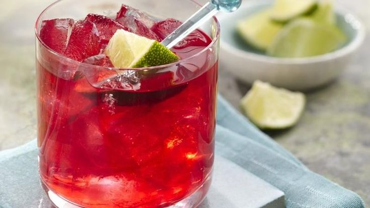 Hibiscus Lime Margarita -- only try making this with Hisbiscus Tea ...