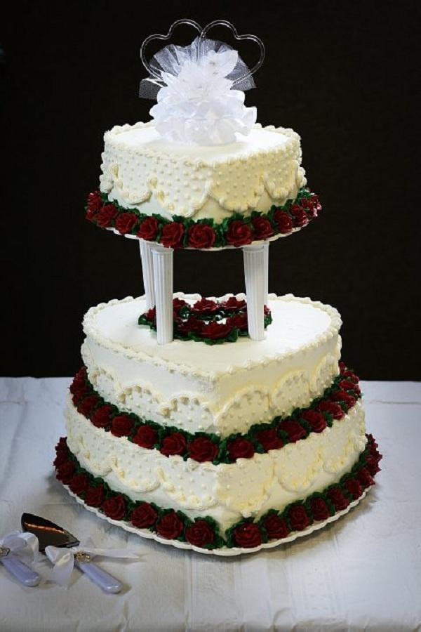 Heart shaped wedding cake The Cake Pinterest