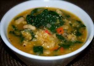 winter white bean, fennel & kale soup | Soup-n-Salad | Pinterest
