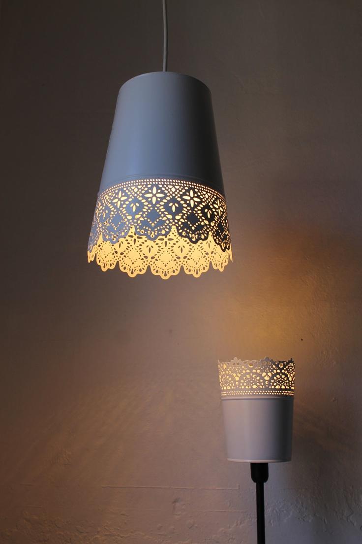Upcycled Planter Lamp Shade Lampshades I Love Pinterest