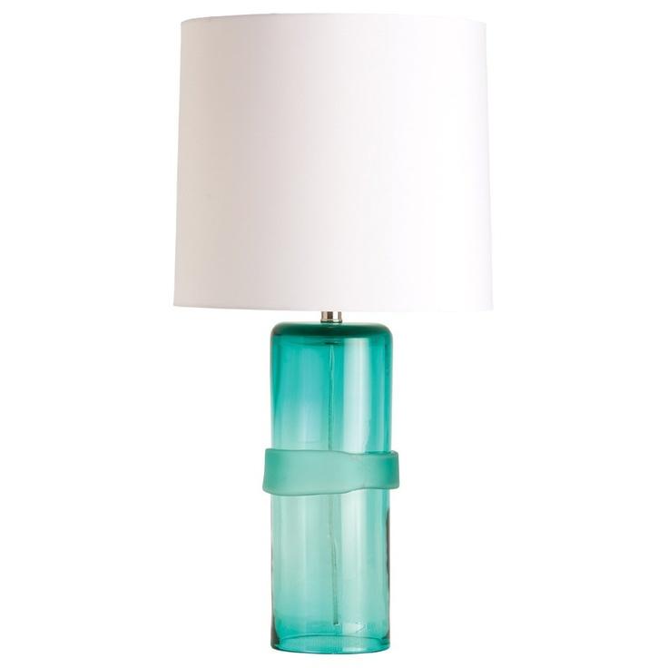 arteriors topher aqua glass table lamp interior design. Black Bedroom Furniture Sets. Home Design Ideas