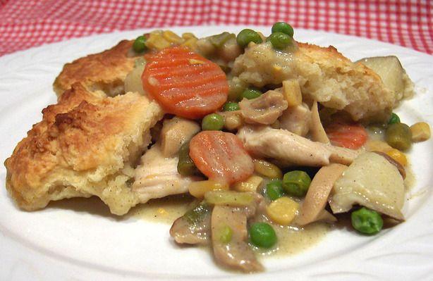 Chicken Pot Pie with Buttermilk Biscuit Crust | Recipe