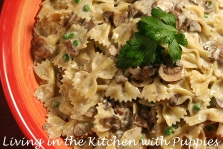 Farfalle With Creamy Wild Mushroom Sauce Recipe — Dishmaps