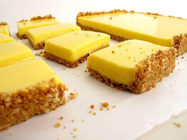 Meyer Lemon Bars with Coconut-Graham Cracker Crust