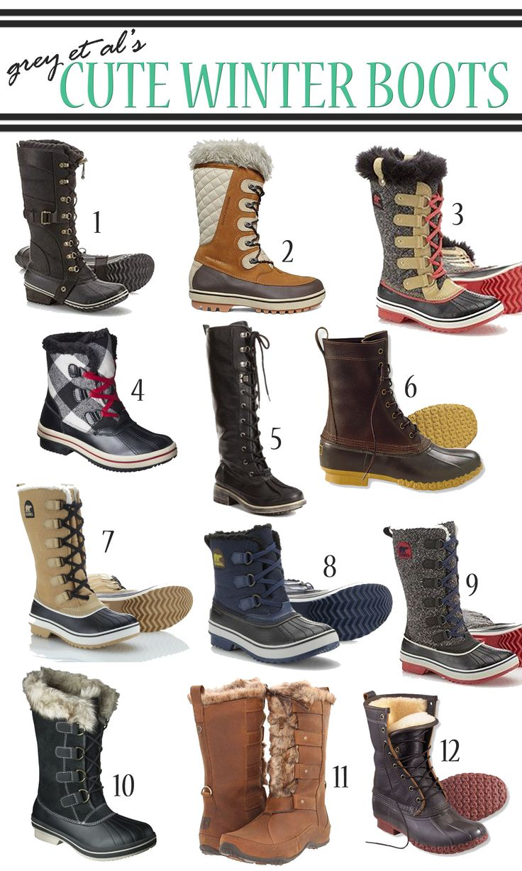 Cute Winter Boots Shoes | Santa Barbara Institute for