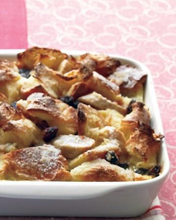 pudding,,,, use raisin bread or bread with cherries,, pretty... warm ...