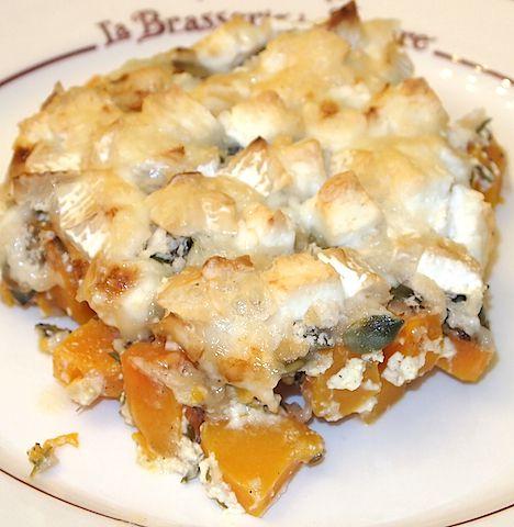 Butternut Squash and Goats' Cheese au Gratin - Plat du Jour