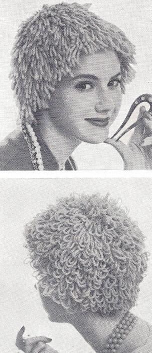 Vintage Knitting PATTERN Wig Hat Yarn Hair Loss Chemo