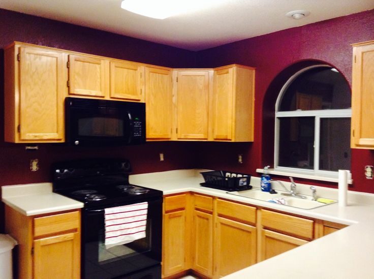 My maroon kitchen  For house and Home  Pinterest