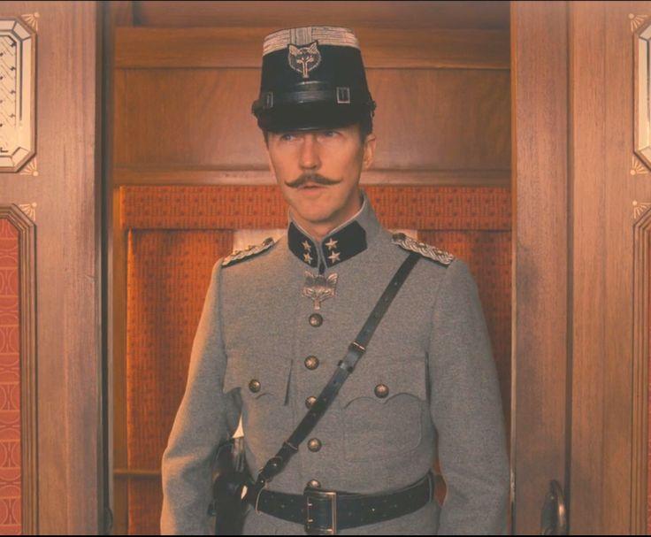 The Grand Budapest Hotel Edward Norton wolf uniform