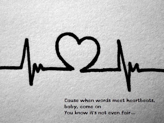 Words meet heartbeats meaning