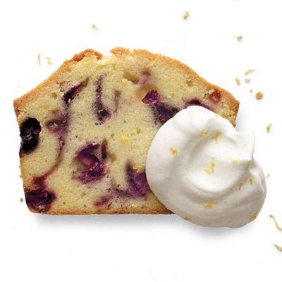 Blueberry-Sour Cream Pound Cake with Lemon Cream Recipe - Delish.com