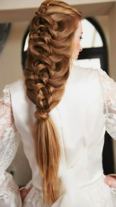 Hairstyles For Long Hair Knots : French knot braid.... Hairstyles :] Pinterest