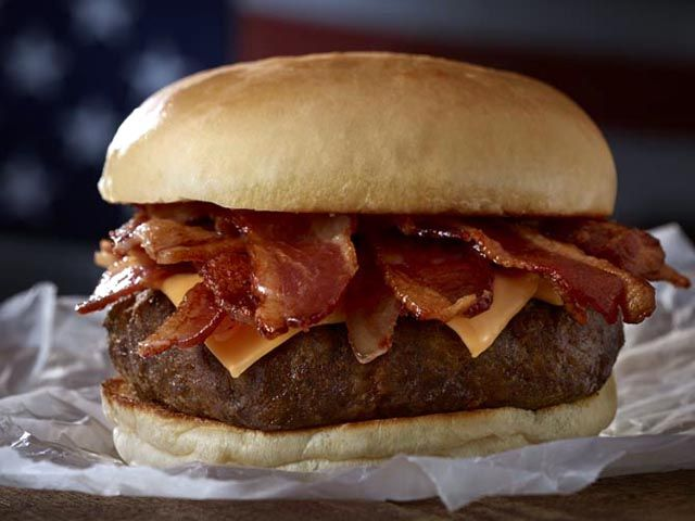 ALL AMERICAN BACON CHEESEBURGER | BACON! | Pinterest