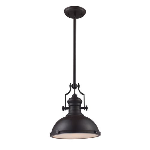 Portfolio 13 in w oiled bronze pendant light pn0105 - Lowes light fixtures for kitchen ...