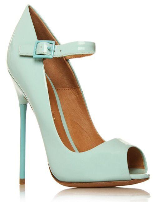 different designed mint green high heel shoes for women by Kurt Geiger