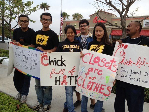Chick-fil-A created some controversy when president Dan Cathy expressed his stance against gay marriage. Protests around the country as well as acts of support reflect the social changes happening in the United States.