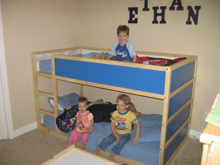 New ikea kura bunk bed for boy kids pirate mermaid bedroom pinterest - Toddler bed at ikea ...