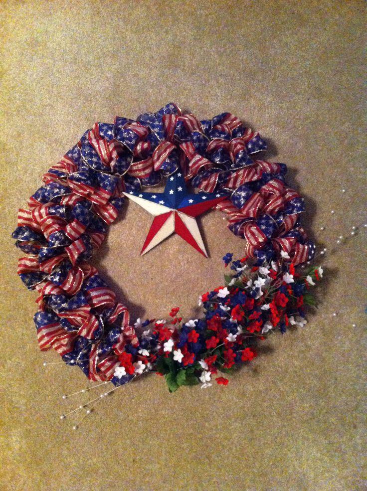 4th of july wreath diy
