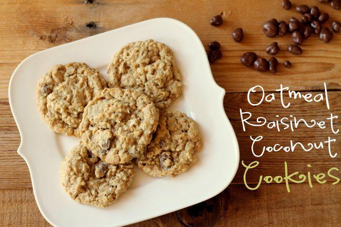 Oatmeal Raisinet Coconut Cookies - Dad would love these!! {lilluna.com ...