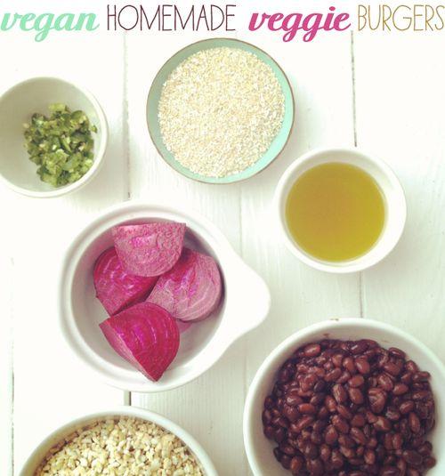 Vegan Homemade Veggie Burgers | yummy | Pinterest