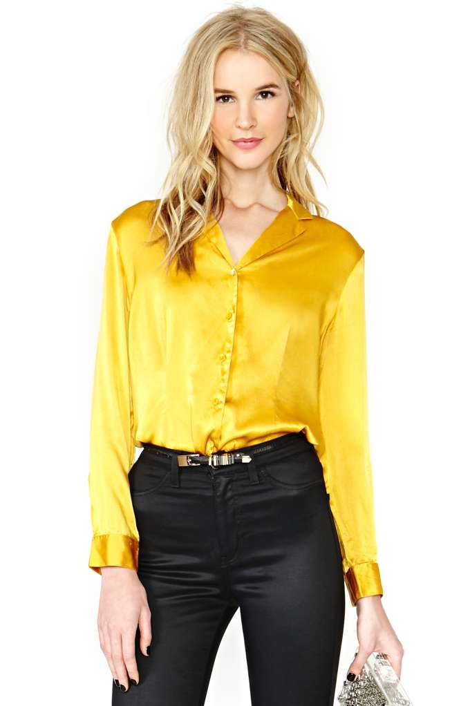 Good As Gold Silk Blouse | Outfits