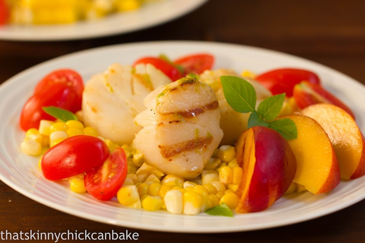 ... chick can bake!!!: Warm Scallop Salad with Corn, Nectarines and Basil