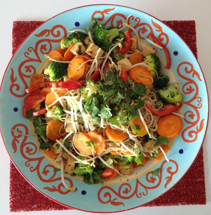 Ginger Garlic Soba Noodle Salad | Veggie Salads | Pinterest