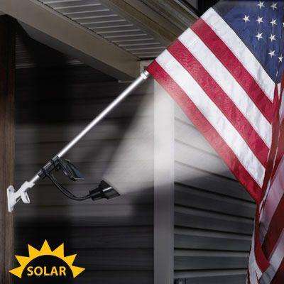 solar flagpole