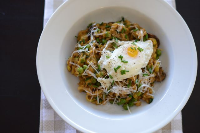 ... dairy free... M Loves M: spring vegetable risotto with a poached egg