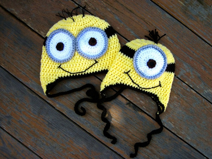 Crochet Patterns Minions Despicable Me : Despicable Me Minion Hats Crochet Pinterest