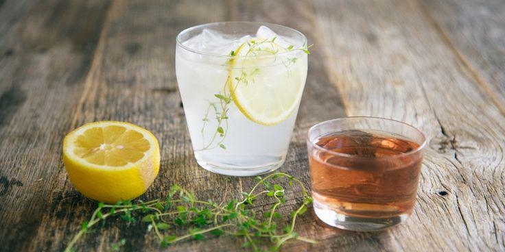 Blueberry thyme lemonade gin fizz - 2 oz. gin 1/2 oz. triple sec 1 ...