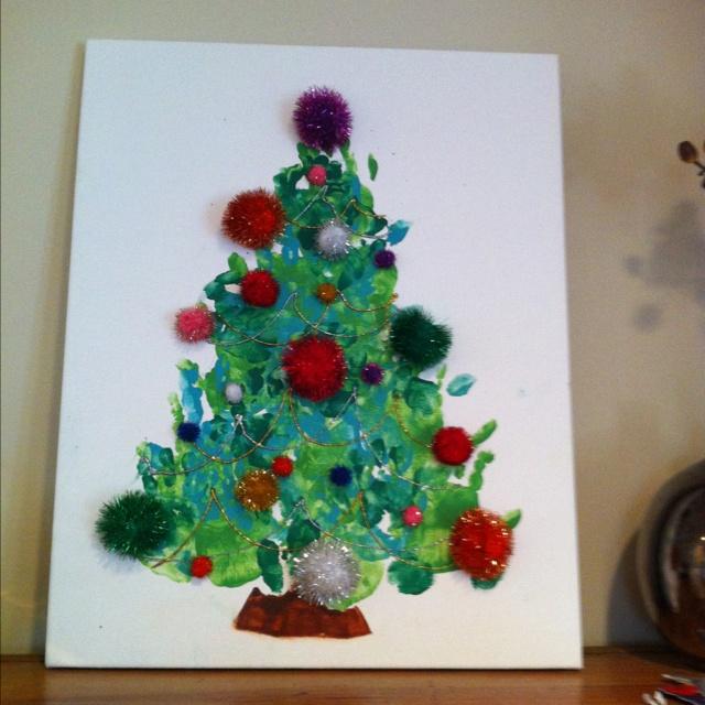 christmas tree handprint - photo #10