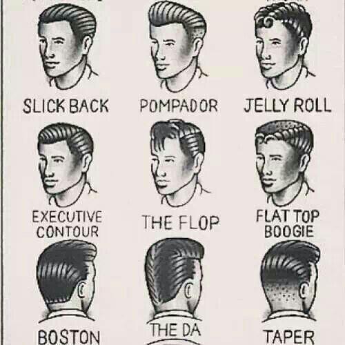 Men's Greaser Hairstyles | Pinup/Rockabilly/Stars/Boudoir | Pinterest
