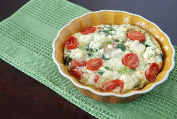 Spinach Egg White Frittata with Feta Cheese by the novicechefblog # ...