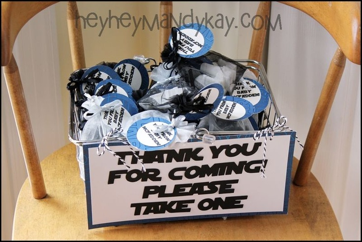 star wars baby shower thank you gifts