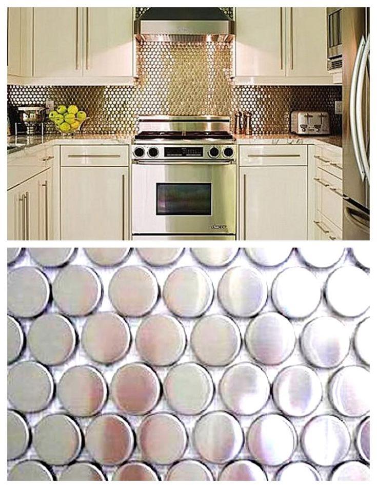 silver penny tile backsplash google search design products