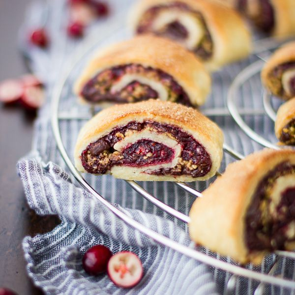 gluten free rugelach with cranberry port jam, chocolate and walnuts ...