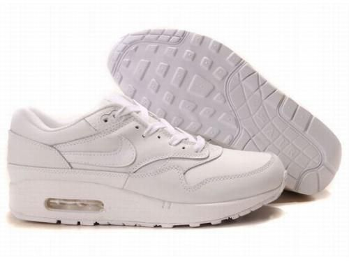 New Arrived Nike Air Max 87 Men All White Running Shoes