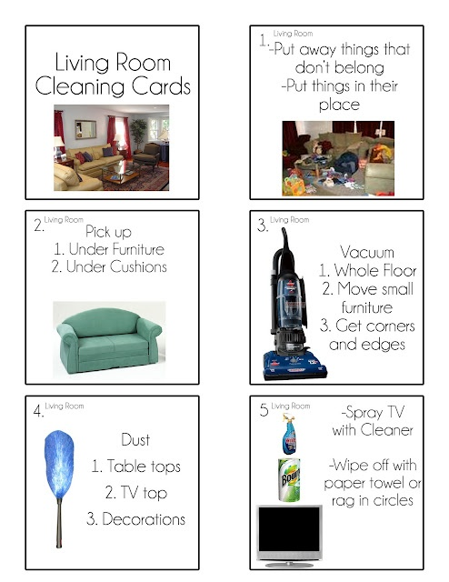 Chore Cards {Chore Flip Charts} for the kids
