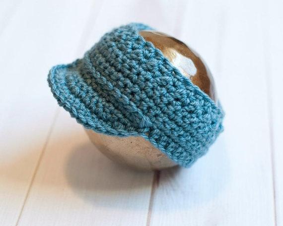 Crochet Newborn Visor, Sun Visor, Photo Prop