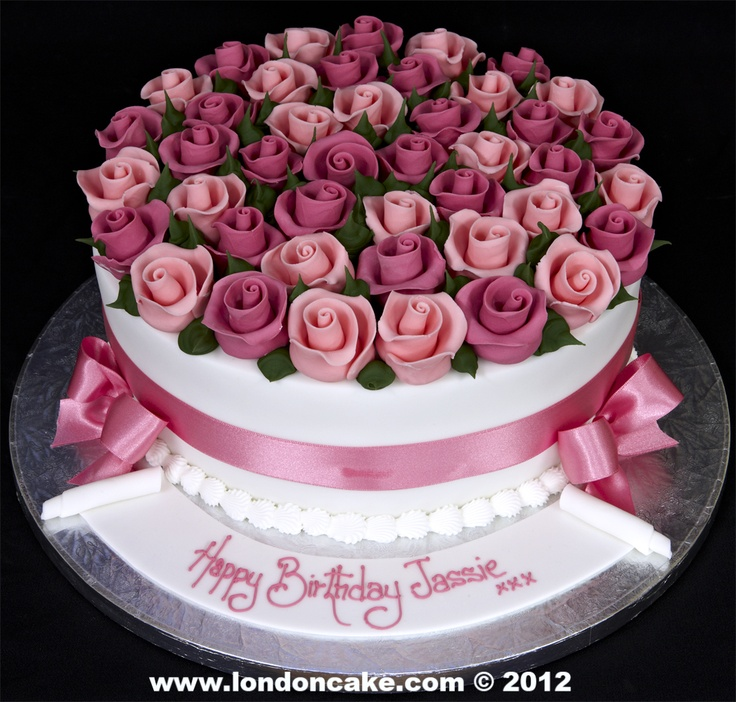 Ribbon roses Cake Decorating Pinterest